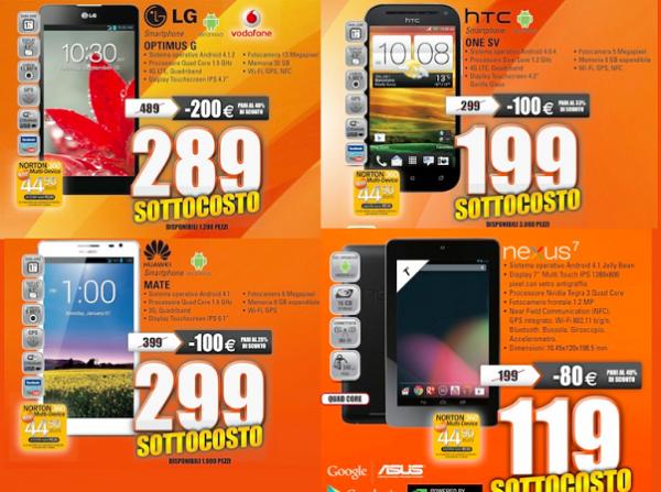 Expert Nexus 7 Htc One Sv Ed Lg Optimus G In Offerta