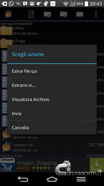 Come aprire archivi ZIP e RAR su Android - ChimeraRevo
