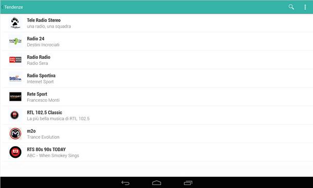 Android Auto - Tuneln-Radio