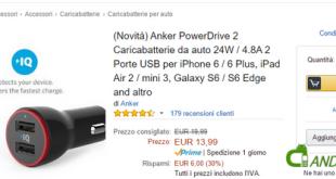 Anker PowerDrive 2 in offerta su Amazon: