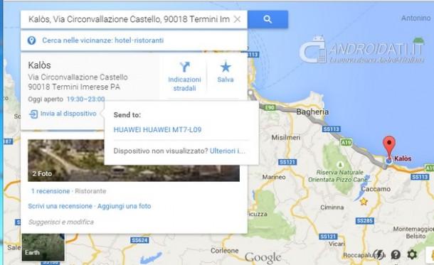 Google Maps: la nuova versione 9.11.0