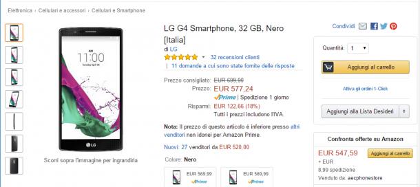 Offerta Amazon LG G4