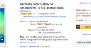 Offerta Amazon Samsung Galaxy A5