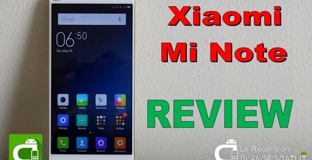Xiaomi Mi Note - recensione