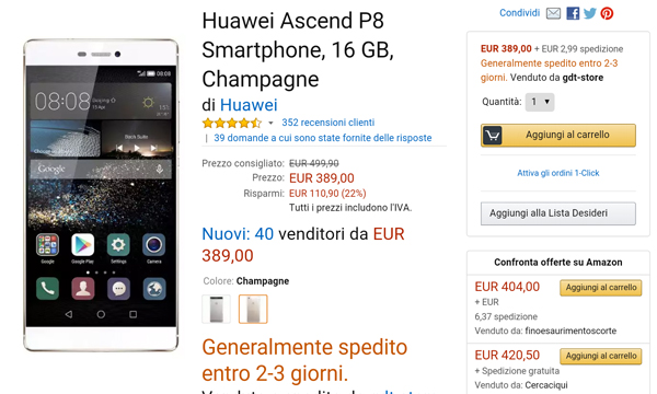 huawei-p8-offerte-amazon-recensione
