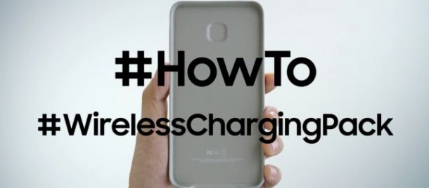 ricaricare Galaxy S6 Edge+ con Wireless Charging Pack