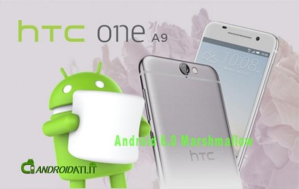 HTC One A9: adozione annunciata di Android 6.0 Marshmallow