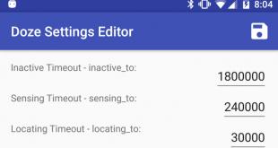 Doze Settings Editor