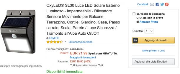 Offerta Amazon OxyLED SL30