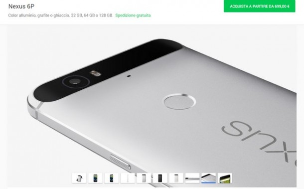 Nexus 6P disponibile in Italia sullo Store di Google