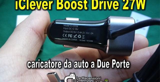 Recensione caricatore per auto iClever Boost Drive-27W