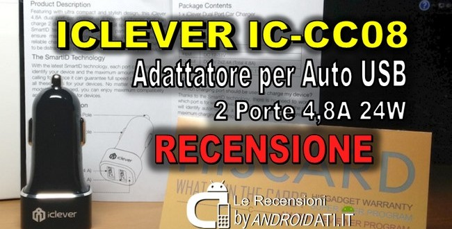 iClever Adattatore per Auto USB