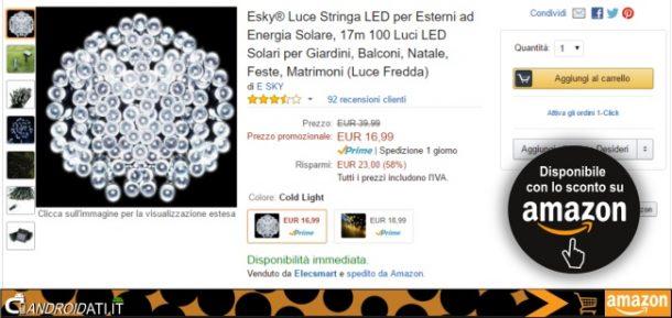 Offerta amazon Esky Luce LED