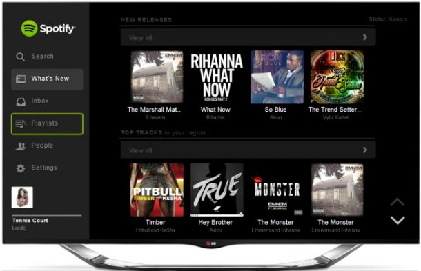 Spotify disponibile su Android Tv