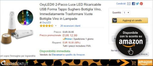 Prezzo promozionale Amazon: OxyLED 2-Pacco Luce Led