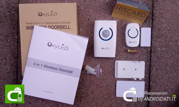 OxyLED D01 Campanello Wireless: Unboxing