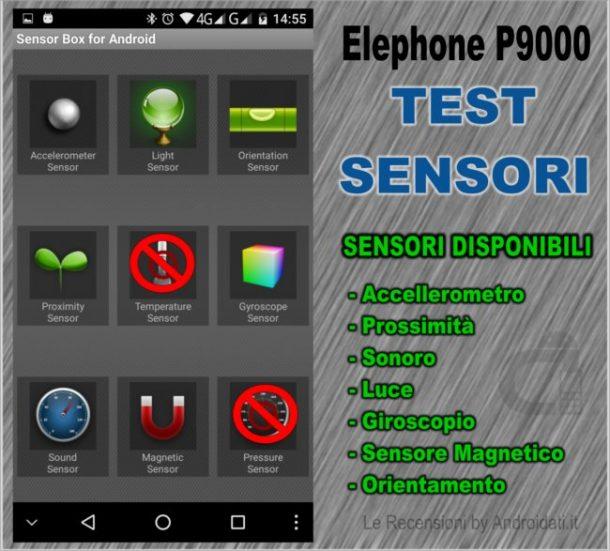 Test sensori elephone P9000