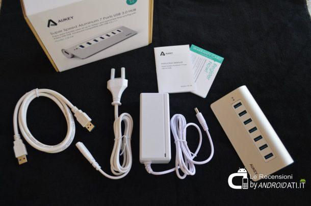 Aukey Hub USB 3.0 7 porte - Unboxing