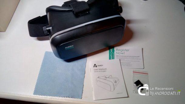 Aukey VR 3D occhiali visore di Realtà Virtuale: Unboxing