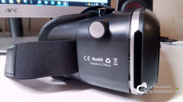 Aukey VR 3D occhiali visore di Realtà Virtuale: Materiali e Dimensioni