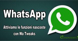 attivare le funzioni nascoste di WhatsApp