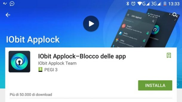 Come bloccare le App con IObit Applock