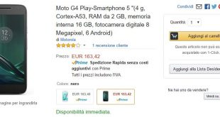 Moto G4 Play su Amazon a 163€