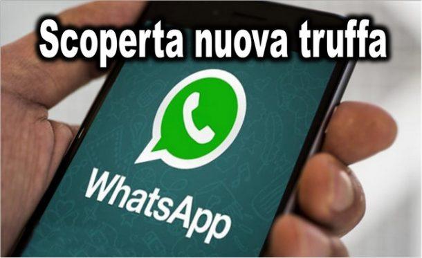 Scoperta nuova truffa WhatsApp