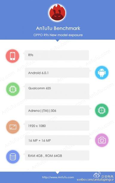 Oppo R9s: benchmark Antutu